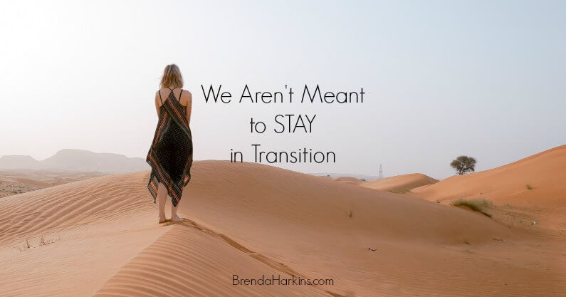We Aren't Meant To Stay In Transition
